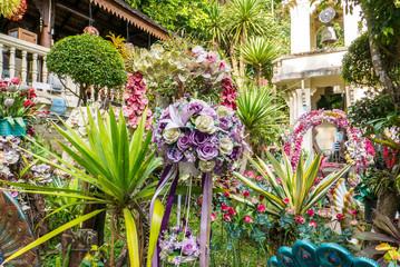 Botanischer Garten mit Blumen