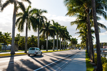 A road in Miami, Florida.