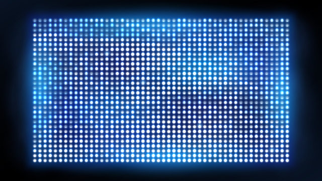 Bright led projection screen. Cinema and entertainment vector display