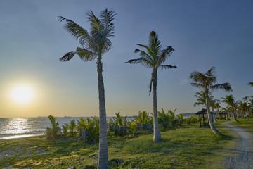 Beach on the island of Cijin in the city of Kaohsiung (Taiwan)