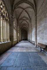 Cloister in the Cathedral of Segovia.