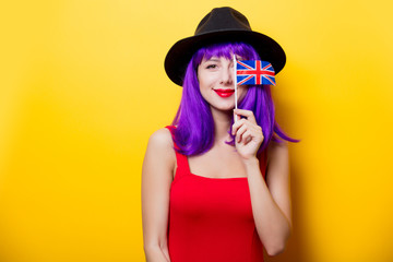 girl with Great Britain flag in hand