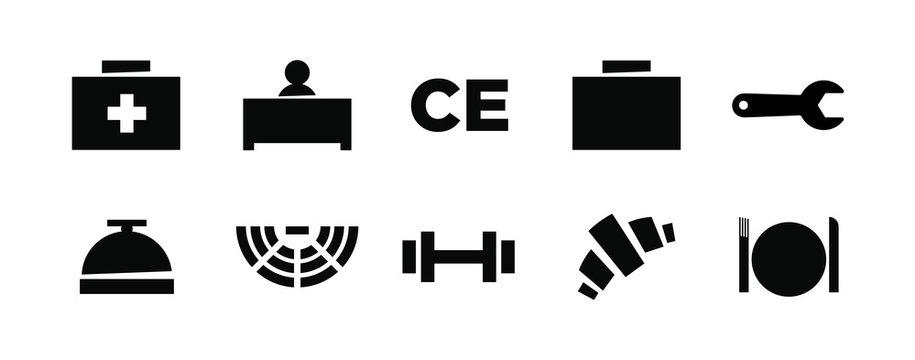 Vecor icon set welcome