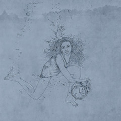 portrait of woman with sand