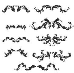 vector baroque pattern elements