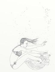 woman dancing in the sea