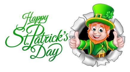 Cartoon Leprechaun Happy St Patricks Day