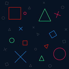 Background gaming vector icon illustration