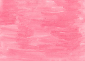 Abstract texture brush ink background pink red aquarel watercolor splash hand paint on white background