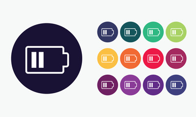 Battery icon symbol. Sign electricity vector creative design.