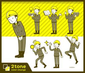 2tone type helmet construction worker men_set 05