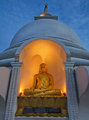 A statue of Buddha in the Japanese temple, Galle, Sri Lanka