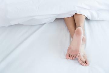 Woman Sleeping show feet