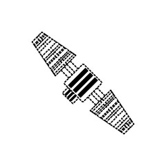 car foot pedals  vector illustration