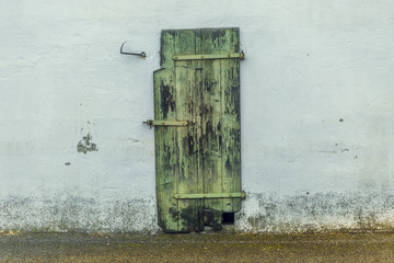 Closed door of a stable