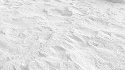 Snow relief wavy texture background black and white Wall mural