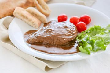 Beef Tenderloin with creamy brown Sauce