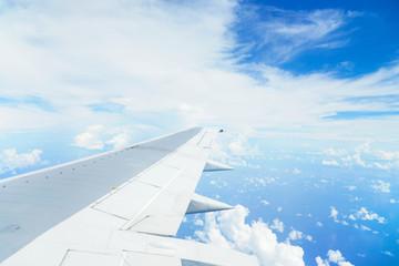 Wall Mural - 飛行機から見る青空