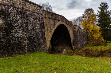 Historic Casselman Stone Arch Bridge - Autumn Splendor - Garrett County, Maryland