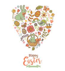 Cute Easter festive banner