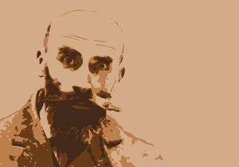 Landru - criminel - portrait - crime - assassin - tueur en série - peine de mort - justice - procès