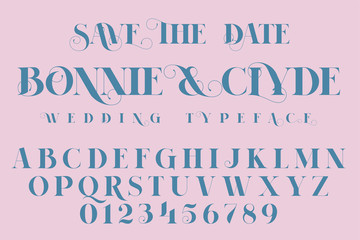 Save The Date, Fashion and Wedding font