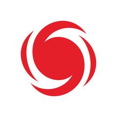 Hurricane alert icon, Nature Disaster alarm symbol