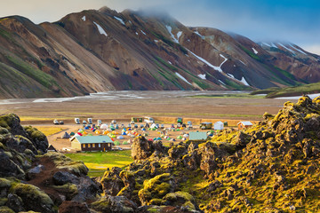 In valley of the park is located tourist camping