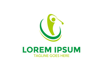golf logo. icon. vector illustration. sport