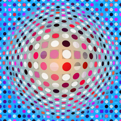 colorful digital artwork dots