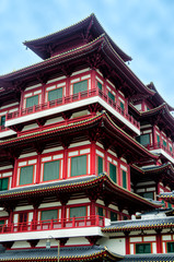 A beautiful view of Buddha Tooth Relic Temple