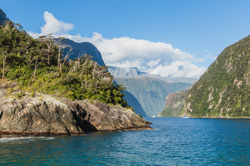 Milford Sound. Fiordland national park, South island, New Zealand
