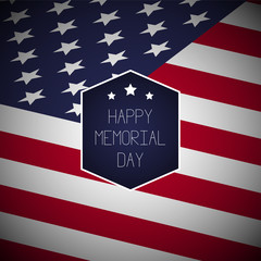 Happy Memorial Day background template.Happy Memorial Day concept. Happy Memorial Day poster.