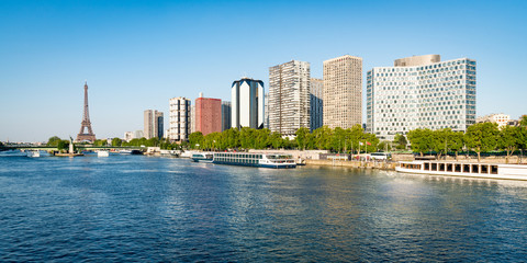 Fotomurales - Paris skyline Panorama mit Eiffelturm und Seine