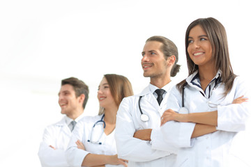 group of employees of the medical center
