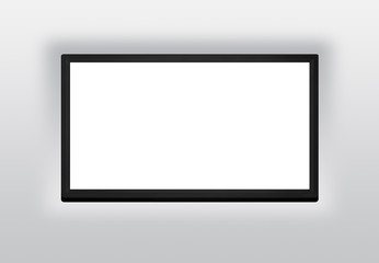 Led or Lcd tv screen hanging on the wall background