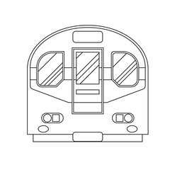 Coloring book for children. Vector illustration. subway train, m