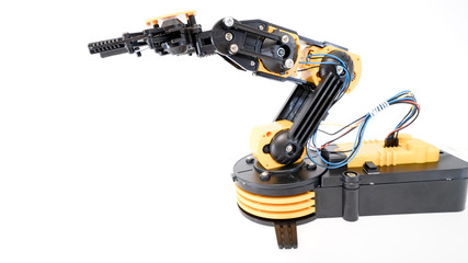Plastic robot arm model