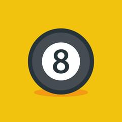 Billiard ball flat icon. Vector stock.
