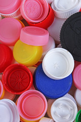 Collect plastic bottle caps.
