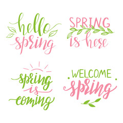 Set of quotes about spring
