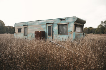 Abandoned caravan park