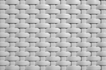 The texture of a knitted, braided. White color