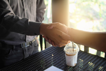 Image businessman handshake. Successful handshake after good deal. business meeting