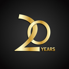 20 YEAR ANNIVERSARY Vector Icon