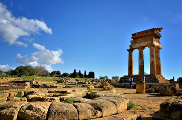 Italian destination, archaeological site in Sicily, Valley of Temples (Valle dei Templi)