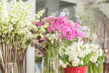 Flower shop concept different varieties fresh spring flowers in see more mightylinksfo