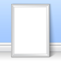 Frame realistic mock up vector blue kids room wall