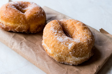 Homemade Sugared Donuts Ready to Eat