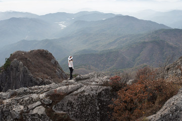 Hiking from moisture to cloud in Gayasan National Park, South Korea